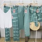 Falda Corta Tie Dye - Turquesa