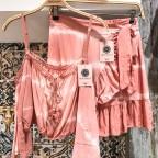 Falda Corta Tie Dye - Salmon