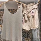 Top Lurex - Beige