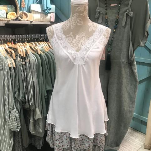 Top Tirante Blonda - Blanco