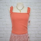 Cropt Top Tricot - Salmon