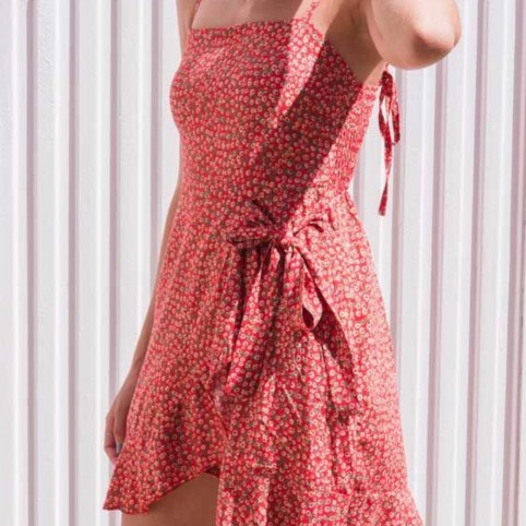 Vestido Margaritas -Rojo-