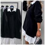 Vestido Comfy Camisero -Negro