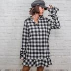 Vestido Love Cuadros - Negro