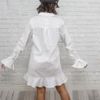 Vestido Love Volante-Blanco