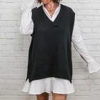 Chaleco Punto Oversize-Negro