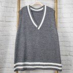 Chaleco Oversize College -Gris oscuro