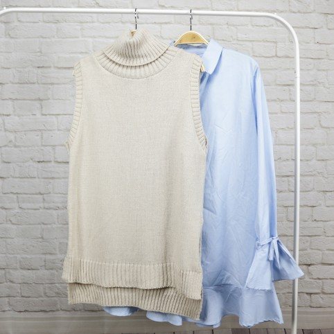 Vestido Love Volante-Azul Celeste
