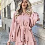 Vestido Paula -Rosa