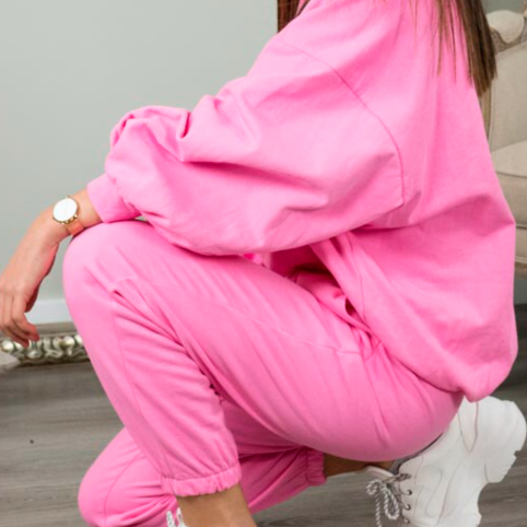Pantalón Chándal Zoe - Rosa Chicle
