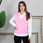 Chaleco Oversize Corto - Rosa Chicle