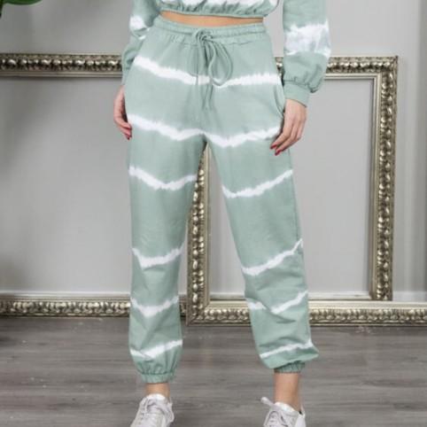 Pantalón chándal Tie Dye - Verde