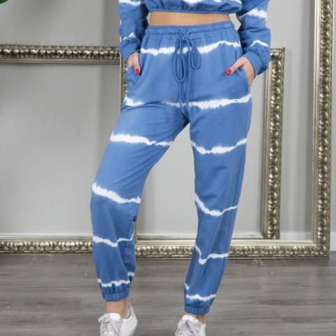 Pantalón chándal Tie Dye -Azul
