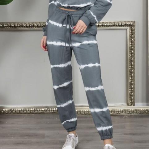 Pantalón chándal Tie Dye -Gris Oscuro