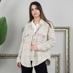 Sobrecamisa Tweed - Marrón