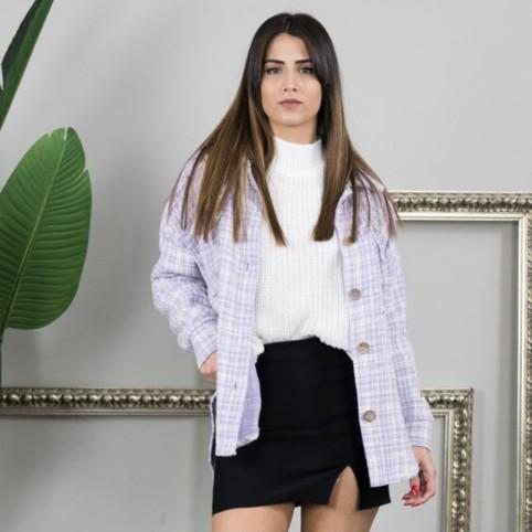 Sobrecamisa Tweed - Lila