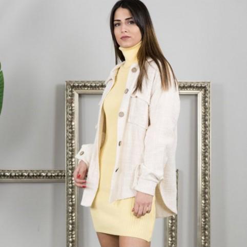 Sobrecamisa Tweed - Beige