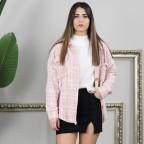 Sobrecamisa Tweed - Rosa