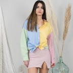 Camisa Popelyn ColorBlock