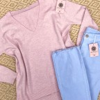 Jersey Oversize Cashmere- Rosa