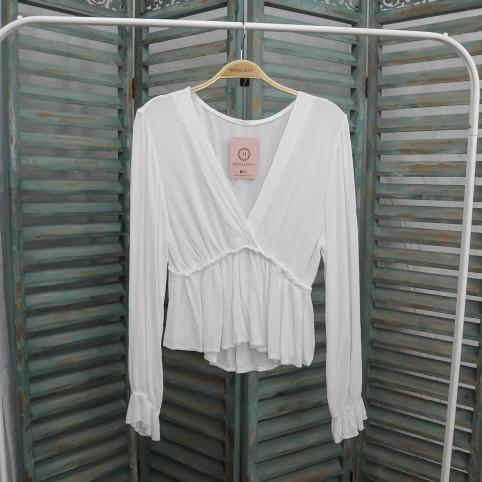 Blusa Organza Cruzada -Blanco