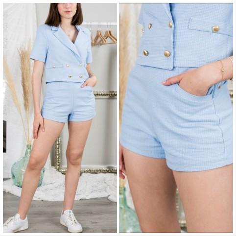 Short Tweed - Azul