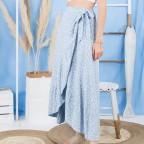 Falda Volante Margaritas - Azul