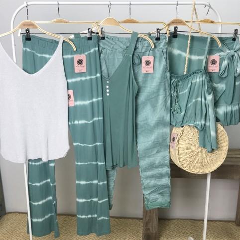 Pantalon Tie Dye - Verde