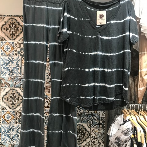 Pantalon Tie Dye - Antracita